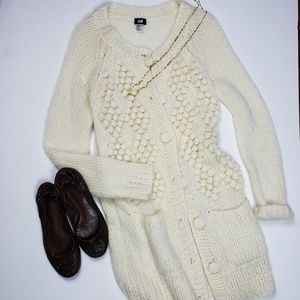 H&M   Chunky Knit Duster Long Cardigan Sweater M